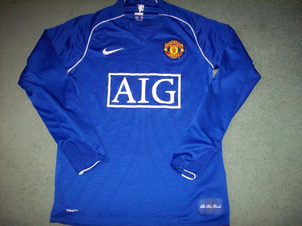2007 2008 Manchester United Gk Goalkeeper Football Shirt Adults Small